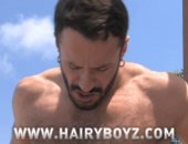 Wilfried Knight and Vince Ferelli are on a rooftop getting hot and heavy. Soon they are naked and trading blowjobs. They move inside the stairwell to fuck and what a fuck it is! Hairy Wilfried Knight takes massive body builder Vince Ferelli from behind thrusting his mass up with every fuck blow. From start to finish its a high impact fuck the way men do, grunting and spitting and thrusting until the last drop of cum explodes from their meaty cocks.