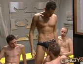 Five horny jocks make out after a hard game, cum join the orgy and get full orgy and gangbang videos, with new videos added every week.