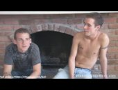 Guys show as they are sexy and one cool boy have oral sex with the second guy.