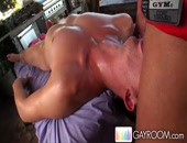He gets a nice long deep tissue massage from a hot hunk
