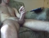 9 INCH CUT COCK Getting Stroked On Cam