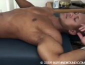 Gay Asian man gets his toned muscled body massaged
