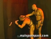A line of muscle men are in front of the role of glory hole being sucked in a sleazy room. The master with a leather wipe in his hand is forcing the hungry submissive bottom to suck harder on each stiff cock. Soon, it turns to a six guy orgy with cum fling everywhere at the end. Get full scenes at www.malepornpass.com