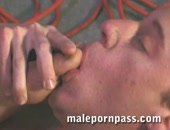 This dark haired tattooed stud finally convinces the cute lanky Blondie into going to his place. Blondie goes for dark haired guy s feet and takes his time as he works them over one toe at a time. Blondie sucks then gets plugged with the dark haired guy s nice cock. Get full scenes at www.malepornpass.com