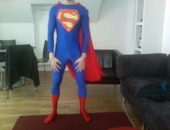 Homemade Amateur Webcam Superman Flex