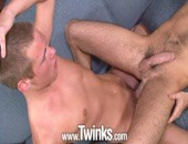 After showing off their equal-love credentials with their tag-team threeway set, our new recruits are back for a video of their cock-swapping exploits. Hairy hottie Seth Jenkins looks particularly fetching opening up his ass to the jack-hammering of Patrick ORiley.
