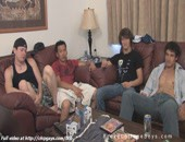 Relaxing Horny Twinks - Four college guys sit a little decide to relax by licking each other.