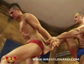 Newcomers wrestle and fuck totally naked