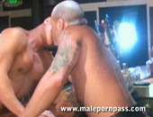 Tober Brandt is one hot motherfucker! Butch and masculine, he packs major beef! And Jock Ripper is the lucky recipient of a deep meat injection. Tober gets his thick cock sucked before fucking Jock right there on the bar.For Full Movie Go To http:www.MalePornPass.com Check out our blog at http:www.MalePornAccess.com Follow us on Twitter.comMalePornPass