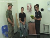 Hot skilled medical man examines two sexy bodies of fresh males at cabinet. More video @ http:www.chipgays.comint