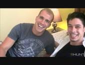 Hot bi jock Brandon gets naked with horny hunk Tony. Brandon can