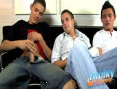 Michael, Ty and Trevin Nills are getting together for a hot jerkoff session, they each take out there dicks and compare them, as soon as they are naked, they each start to jerk there rock hard dicks! its not long before each and everyone of these twinkylicious boys are spewing cum all over themselves