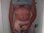 Rubbing One Out - jerking out a nice load.