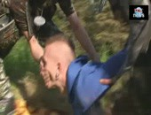Twink redneck is tied up and fisted outdoors by camouflaged horny dudes
