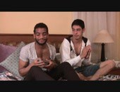 Two horny studs play with some sex dice that leads to some massage and suggestions of what