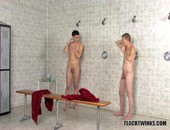 Tight young amateur twinks showering at school