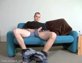 Hot amateur hung stud lubes his massive cock and strokes till cumshot