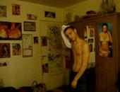 Young 18yr old dude masturbating on webcam
