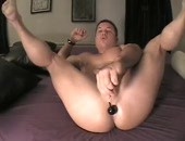 Nice white boy with toy