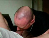 Sucking on a nice fat cock.