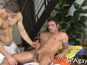 Gay hunk loves to get his anal tunnel drilled