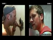 gay blowjob in gloryhole. this straight boy was tricked into getting a blowjob from this willing hunk.