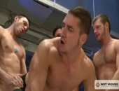 All four studs take turns plowing Marc Dylans eager asshole