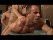 This week Rick Bauer makes a return to Mens penthouse and tries to seduce his sugar daddy with a special gift - his sexy hung friend Rob! Who is more than willing to join them in a hot threesome.