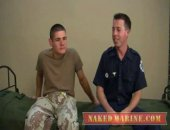 Today handsome and tattooed Firefighter Ryler and big cocked Private Pauly meet up for a quick jerk on the military cot. Feet and Tongues are used without warning to send these two into an orgasmic ending
