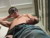 We never get bored watching hot jock Ricky play with his 9 incher...