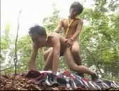 Two Asian boy scouts on a nature walk find a secluded place to fuck like horny twinks.