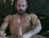 Cristian Torrent works his stud stick until he cums, and his buddies lick up the mess.rn