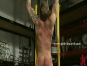 Gay biker uses his basement to torture and fuck sex toys spanking men bound in ropes and making them scream and groan for more in bdsm fetish sex...