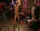 Public bar receives a gay boy gift with eyes tied to serve to a gang for ravaged extreme gang bang sex in this sweet video