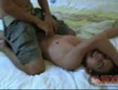 Gay Asian cutie tickle boy Michael is tied to the bed for Rickys tickling fingers to enjoy. Michael has a fantastic ticklish laugh and seems to