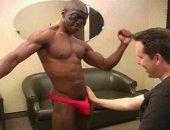 Watch me deepthroat Troy Morenos huge black cock.
