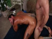 licking hot sweat from horny hunk ass and fucking right there on the floor