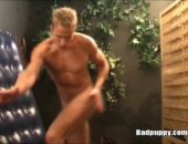 sexy blonde poses and dances naked