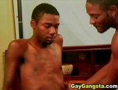 Two black gay proceed to the next level. The scene gets intense as these two black gay get some masturbation and cum