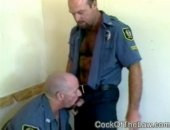swallowing hard dicks in uniform