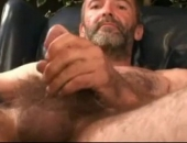 hot and hairy older dude gets off for us