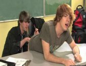 Twink Guy Takes Anal Fuck in the Classroom.