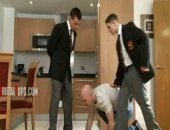 At BrutalTops a sleazy painpig is paying handsome Masters Billy and Toby for a session at their posh city apartment. The painpig is made to worship their shoes and perfect bodies with its tongue - every inch detailed or it will be punished. Master Toby stretches the subs anus with all 5 if his fingers while Billy has his wet sweaty armpits cleaned.  Billy rams his rock hard cock down into the back of the slutty bottoms mouth, face fucking it and choking the cunt, tears streaming down its face as