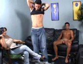 voyeur watches 2 dudes jerk off