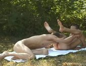 Horny Guy Giving an Outdoor Blowjob and Ass Licking.