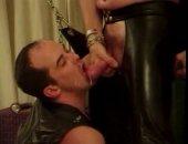 leather men sucking sperm