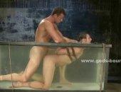 crazy underwater bondage
