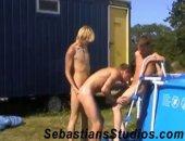 bareback twink 3some