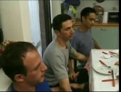 4 friends get ready to fuck after dinner