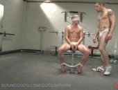 fit jock gets tied up and drilled hard in the shower